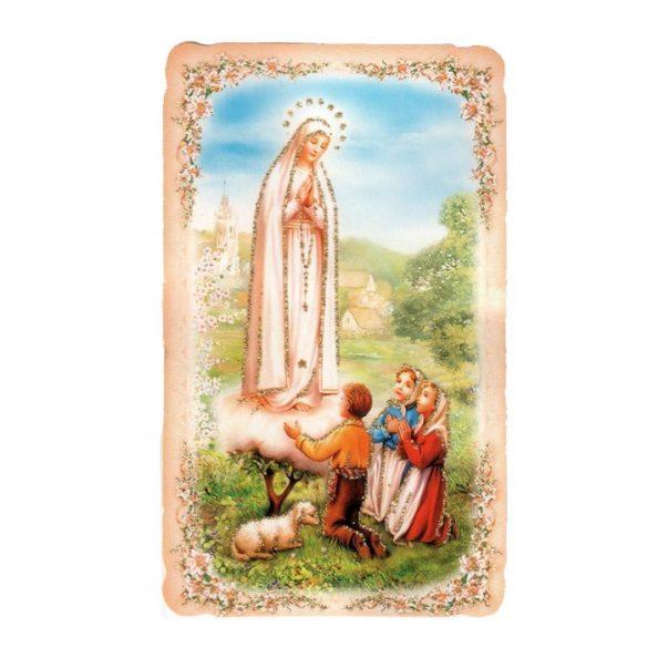 Fatimai Szüzanya aranyozott szentkép