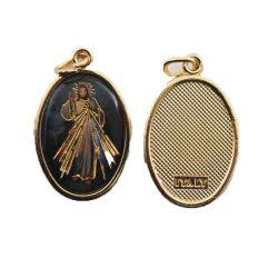 Irgalmas Jézus aranyozott medál
