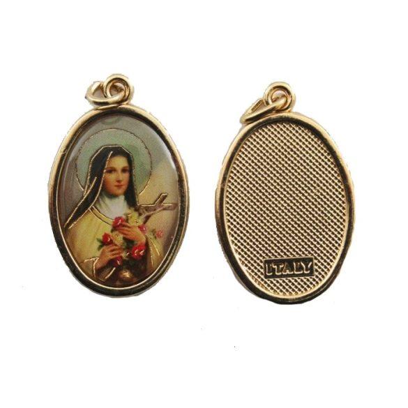 Szent Teréz aranyozott medál