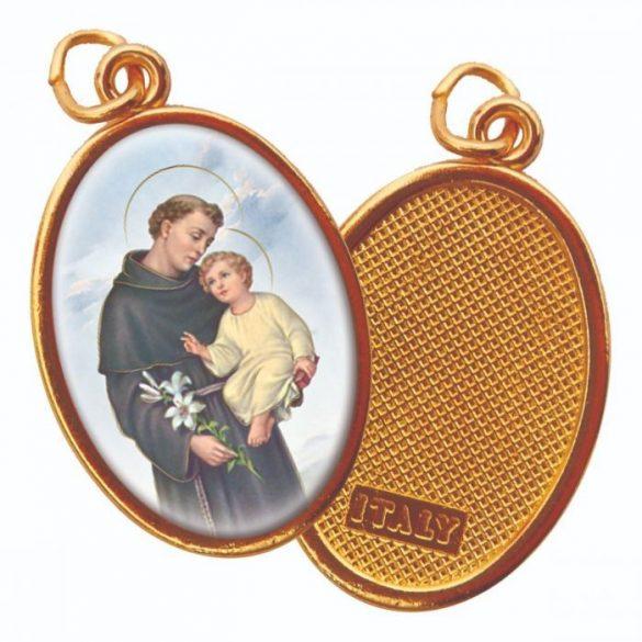 Szent Antal aranyozott medál