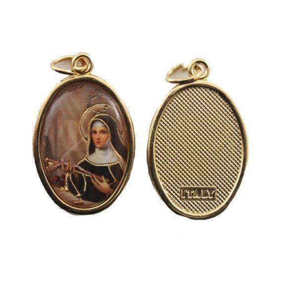 Szent Rita aranyozott medál