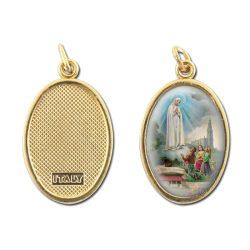Fatimai Szüzanya aranyozott medál