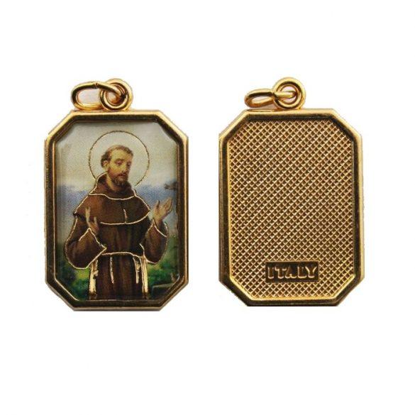 Szent Ferenc aranyozott medál