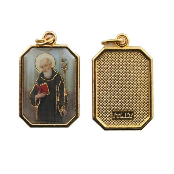 Szent Benedek aranyozott medál
