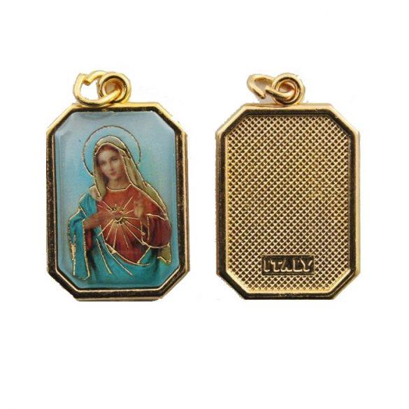Mária Szíve aranyozott medál