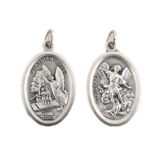 Őrangyal / Szent Mihály ezüstözött érem
