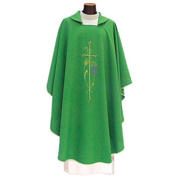 Hímzett miseruha stólával, liturgikus színekben