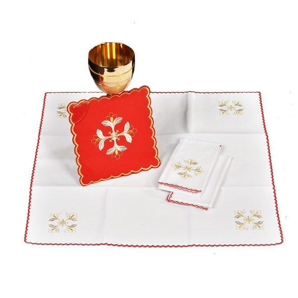 Miséző textil szett piros