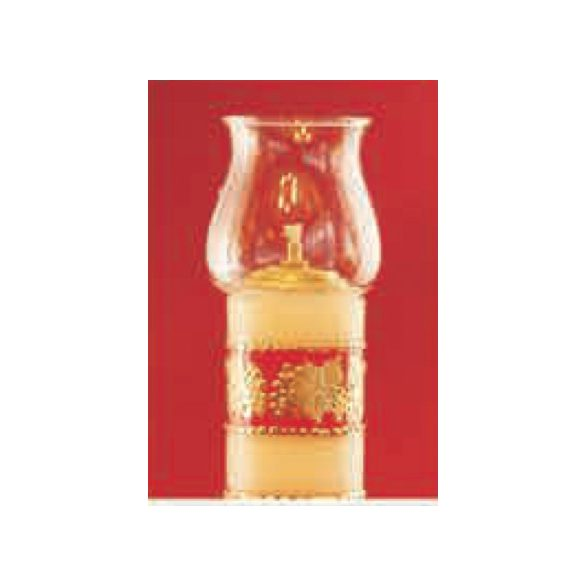 Lángvédő üvegbúra olajgyertyához
