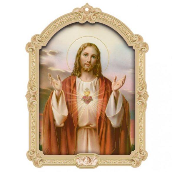 Jézus Szíve faplakett