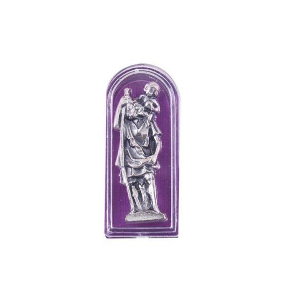 Szent Kristóf miniszobor tokban