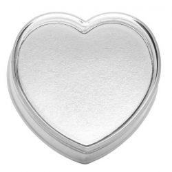 Műanyag rózsafüzértartó, szív alakú