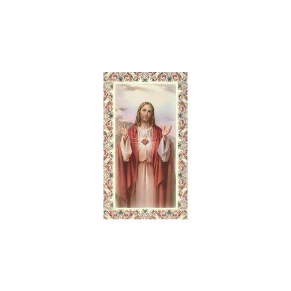 Jézus Szíve szentkép